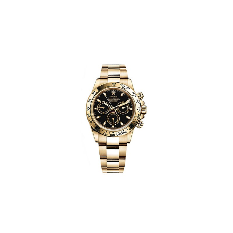 Rolex Daytona Yellow Gold Black Dial 116528