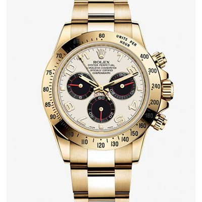 Rolex Daytona Yellow Gold Panda 116528