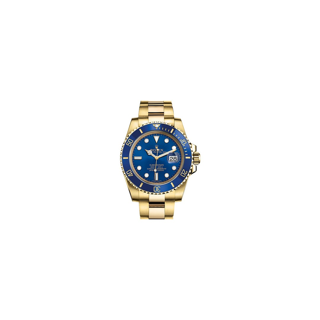 save off 9d3fa c0829 Rolex Submariner Blue Yellow Gold 116618LB