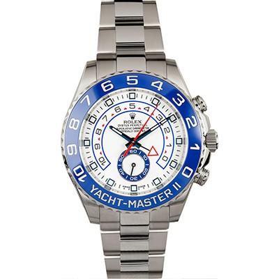 Rolex Yachtmaster II Steel W/ Blue Ceramic Bezel 116680