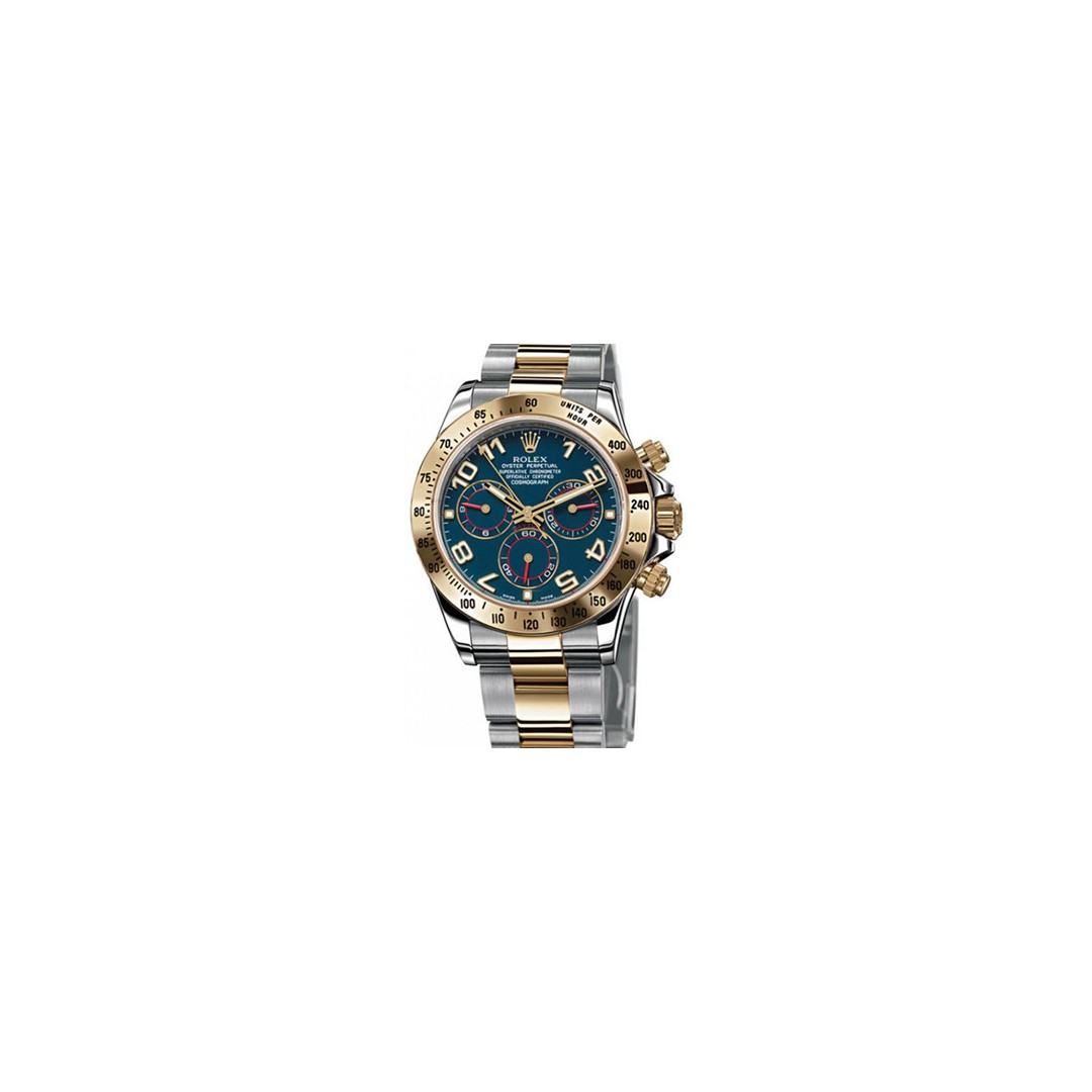 rolex daytona steel yellow gold blue dial 116523