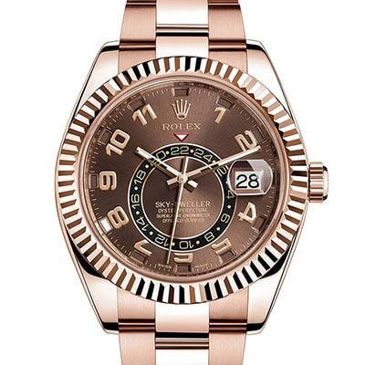 Rolex Sky-Dweller 326935 Gold Chocolate Dial