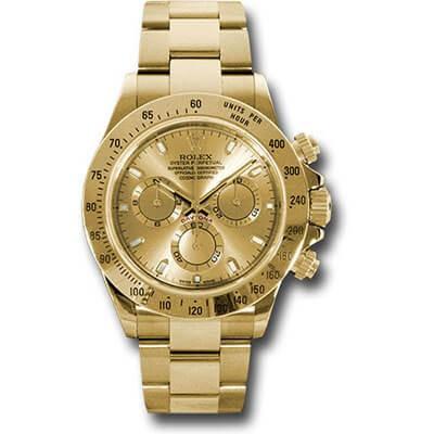 Rolex Daytona 116508 Yellow Gold Champagne Dial