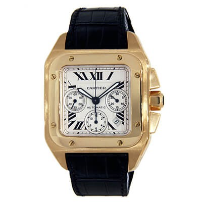 Cartier Santos 100 W20096Y1Chronograph Yellow Gold
