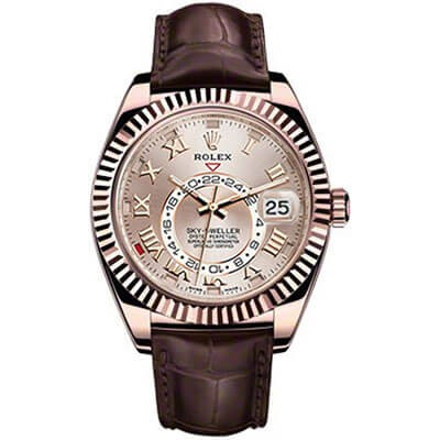Rolex Sky-Dweller 326135 Rose Gold Dial