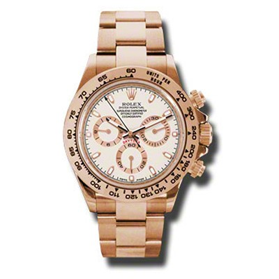 Rolex Daytona Rose Gold Ivory Dial Mint Condition
