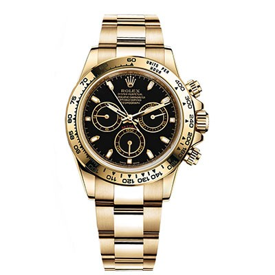 Rolex Daytona Yellow Gold Black Dial 116528