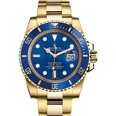 Rolex Submariner Blue Yellow Gold 116618LB