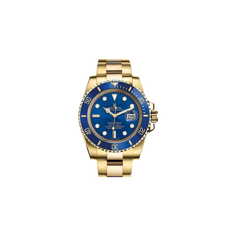 Rolex Submariner Blue Yellow Gold 116618LB