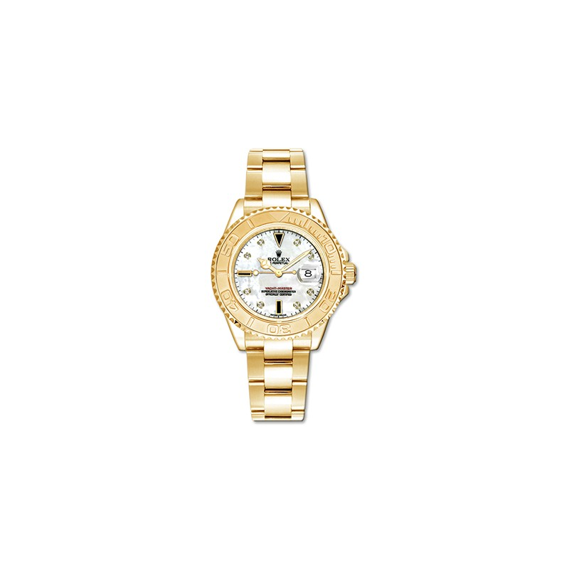 Rolex YachtMaster 35mm Yellow Gold MOP 168628