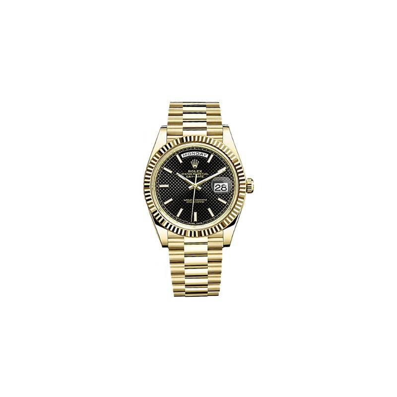 Rolex DayDate 40 Yellow Gold Black Dial 228238