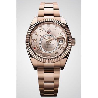 Rolex Sky-Dweller Rose Gold W/ Sundust Dial 326935