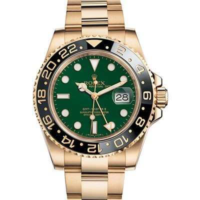 Rolex GMT-Master II GREEN DIAL Yellow Gold