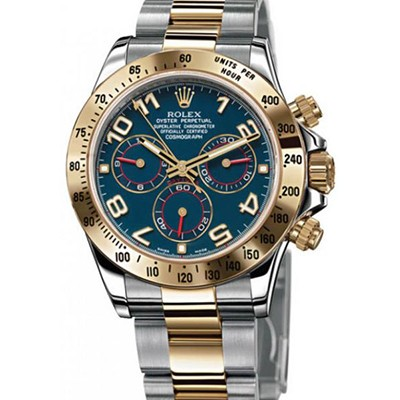 Rolex Daytona Steel & Yellow Gold Blue Dial 116523