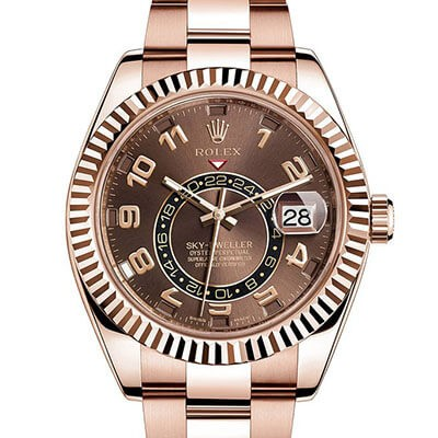 Rolex Sky-Dweller 326935 Gold Chocolate Dial
