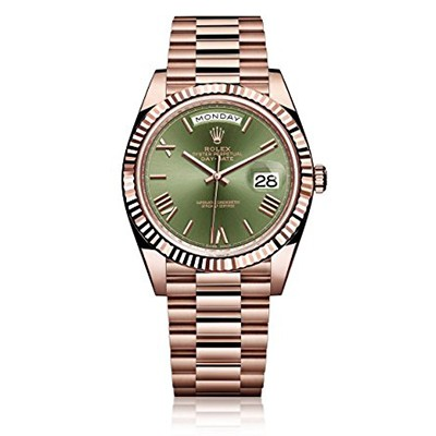 Rolex Day-Date 40 Rose Gold Green Dial Anniversary Ed