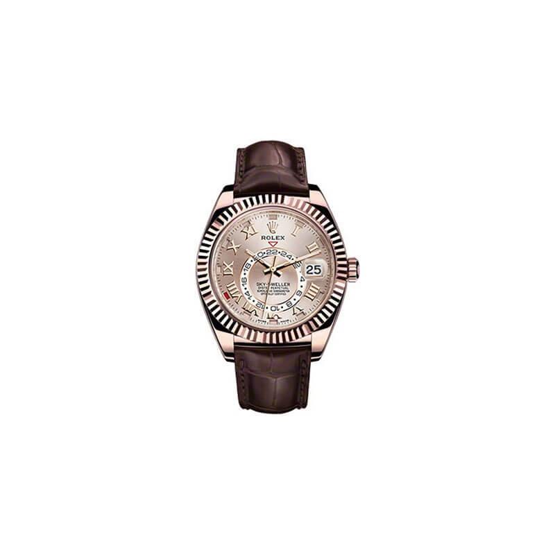 Rolex Sky-Dweller 326135 Rose Gold Chocolate Dial