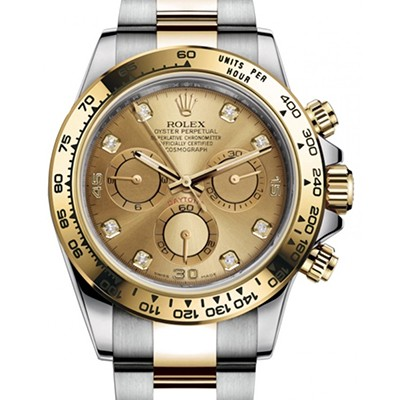 Rolex Daytona Steel/Yellow Gold Diamond Dial116503
