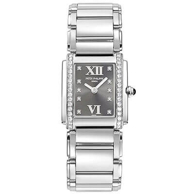Patek Philippe Twenty~4 Ladies Factory Diamonds Grey Dial
