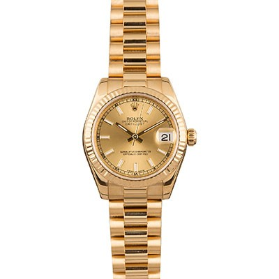 Rolex DateJust 31mm Yellow Gold