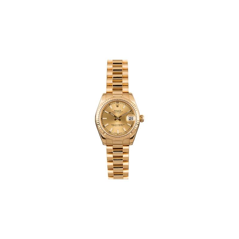 Rolex DateJust 31mm Yellow Gold